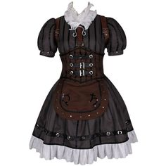 Alice Madness Returns Steamdress Cosplay Costume ($110) ❤ liked on Polyvore featuring costumes, dresses, costume, cosplay costumes, alice in wonderland costume, alice costume, role play costumes and cosplay halloween costumes