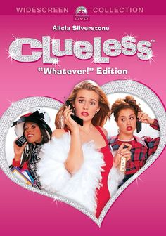 """Clueless """"Whatever!"""" Edition Widescreen BluRay DVD Category: DVDs & Movies > DVDs & Blu-ray Discs Genre: Comedy Format: DVD Leading Role: Brittany Murphy, Alicia Silverstone Release Date: Director: Amy Heckerling Rating: UPC: 883929303403 Other 90s Movies, Iconic Movies, Good Movies, Movie Tv, Girly Movies, Indie Movies, Beverly Hills, Movies Showing, Movies And Tv Shows"""