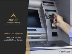 Never get out of cash!!! Aurum is located at a prime location and is in close proximity to 24x7 ATM Facility.  For bookings,  Call: 9824032323  Email: sales@othelloindia.com  For more information, visit our website:  www.othelloindia.com  #OthelloIndia #Aurum #Vadodara #OthelloDeveloper #CommercialBuilders
