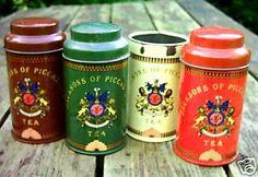 old tea tins
