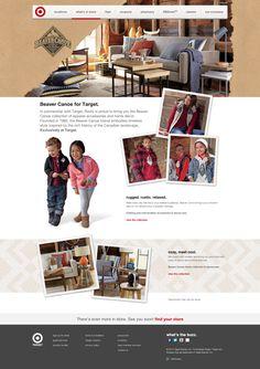 Beaver Canoe for Target | Target.ca | Canada Website Homepage #website #design #ecommerce #brand