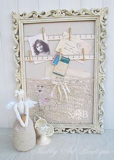 a little bit of granny chic, crafts, design d cor, repurposing upcycling, The back board was covered with drop cloth