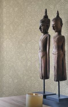 rasch-textil indigo- 226309 grau-braun silber ornament-muster ... - Schlafzimmer Silber Braun