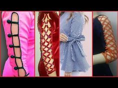 Latest Sleeves Designs for Kurti / Kurta / Kameez/ Blouse ideas Kurti Sleeves Design, Sleeves Designs For Dresses, Kurta Neck Design, Dress Neck Designs, Sleeve Designs, Blouse Designs, Modelista, Salwar Designs, Neck Pattern
