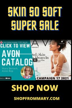 Shop the iconic Avon Skin So Soft sales for a wide variety of bath and body products. This sale has an amazing selection of everything from lotions to the popular Skin So Soft Bath Oil, so you're sure to find something perfect! Take advantage of this limited time offer while it's still going on. Don't miss out! Brochure Online, Avon Brochure, Avon Sales, Avon Skin So Soft, Avon Catalog, Avon Online, Avon Representative, Body Products, Lotions