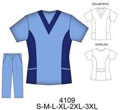 Delantales Spa Uniform, Scrubs Uniform, Maid Uniform, Healthcare Uniforms, Medical Uniforms, Scrubs Pattern, Nursing Accessories, Medical Scrubs, How To Make Clothes