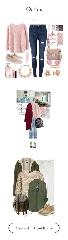 """""""Outfits"""" by emilyalexisdeal ❤ liked on Polyvore featuring Miss Selfridge, MICHAEL Michael Kors, Alexander McQueen, Oliver Peoples, Chanel, J.Crew, Elie Saab, Elizabeth Arden, MAC Cosmetics and Maybelline"""