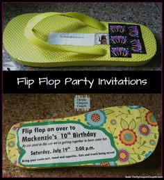 Invite people to your party with a flip flop.  These go through the mail ... no envelope needed.  What a FUN idea!  Find directions here:  http://www.thriftycouponcouple.com/how-to-make-flip-flop-party-invitations-your-guest-will-be-amazed.html