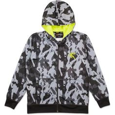 AND1 Boys Player Camo Front-Zip Hoody