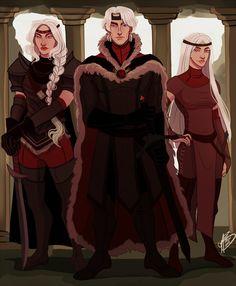 """""""Aegon, Visenya & Rhaenys"""". By naomimakesart.deviantart.com"""