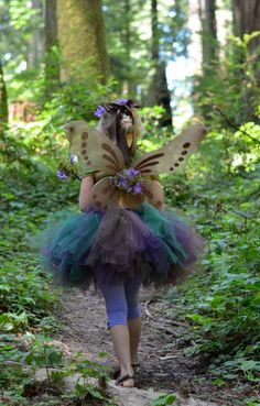 Woodland Fairy Costume  SEWN tutu set  by trendylittlecreation, $50.00
