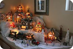 Little houses village display.  Perfect to setup by your Christmas tree.    My Online Best Friend