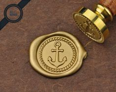 This listing is for a Anchor wax seal stamp, comes with a felt bag (Photo #3)  The stamp is ideal for gift wrapping, packaging, scrapbooking,