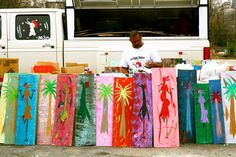 """""""Be what you are.  Don't be what you ain't.  Because if you do what you ain't then you ain't what you are.""""  Ernest Lee aka The Chicken Man, Columbia, SC-- i own 3 of these paintings!"""