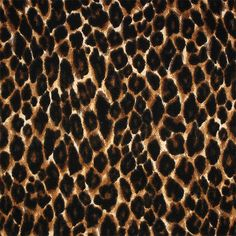 """Brown Black Animal Spots Cotton Spandex Blend Knit Fabric - Detailed cheetah leopard animal print spots cotton rayon spandex blend knit.  Fabric is light weight with a nice stretch and soft hand.  Largest spot measures 2 1/2"""".  ::  $6.25"""