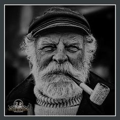 """The Old Fisherman by Paul Crompton"" Photos Portrait Homme, Old Man Portrait, Photo Portrait, Portrait Photography, Old Man Face, Old Fisherman, Sea Captain, Old Faces, Black And White Portraits"
