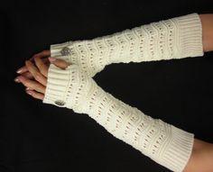 Knitted arm warmers   Arm Warmers   knit gloves by MyArtAndFashion, $20.50