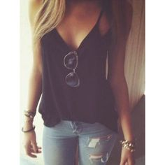 Wholesale Sexy Spaghetti Strap Solid Color Low-Cut Tank Top For Women Only $2.74 Drop Shipping | TrendsGal.com