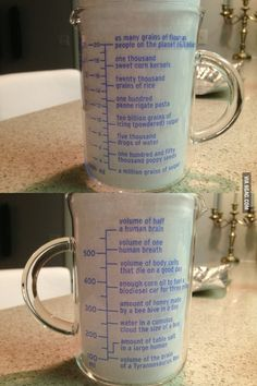 The most interesting measuring cup in the world