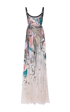 Bead Embroidered Tulle Gown by Elie Saab
