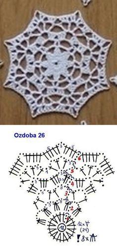 171 Crochet Snowflake Pattern, Crochet Stars, Crochet Snowflakes, Crochet Mandala, Easy Crochet Patterns, Crochet Granny, Filet Crochet, Crochet Motif, Lace Doilies