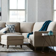 Love these colours and this lounge! Ottoman Sofa, Couch, Freedom Furniture, Living Spaces, Living Room, Coastal Style, Home And Living, Sofas, New Homes