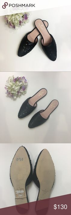 NWOT Kate Spade Black Mules Size 11 NWOT Kate Spade black mules in size 11. Defects of item is from the tape on the bottom of the shoes and a slight mark on the sole. Other than that, perfect condition. kate spade Shoes Mules & Clogs