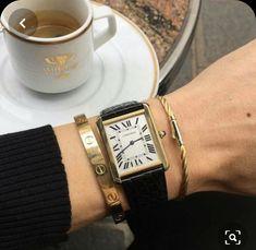 My Cartier Tank Solo Watch in gold Love Bracelets, Cartier Love Bracelet, Bracelet Watch, Jewelry Accessories, Fashion Accessories, Fashion Jewelry, Style Fashion, Cartier Watches Women, Cartier Tank Solo