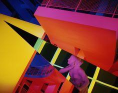 "Barbara Kasten, Architectural Site 17, August 29, 1988, 1988, color photograph, 60 x 50"". High Museum of Art, Atlanta. From ""Barbara Kasten"" on artforum.com"