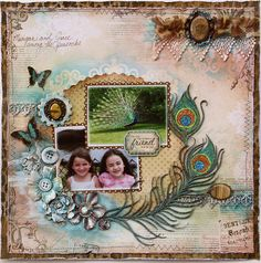 Great Scrapbook page idea for Zoe with her Peacock dress.