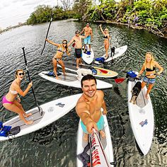 Hanging out with friends SUP ATX style!  www.SUPATX.com #supatx #paddleboard #sup