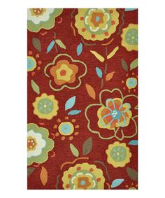 Look at this Loloi Rugs Red & Yellow Summerton Rug on #zulily today!