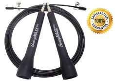 Jump Rope - LIFETIME WORKOUT GUARANTEE_£š - Freedom Fitness SwingMAXX Speed Cable Jump Rope   Carry Bag _ƍ Deluxe Dual Ball Bearing Design for Unmatched Swing Speeds - 10 ft Adjustable CrossFit Jump Ropes Fit Teens and Adults of All Sizes - Best Double Under Jump Rope for Cross Fitness, WOD, Boxing, Endurance Training and Beyond - 100% SATISFACTION GUARANTEED *** Trust me, this is great! Click the image. : Weight loss Accessories