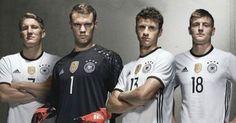 El nuevo uniforme de la Selección de Alemania para la Euro 2016: