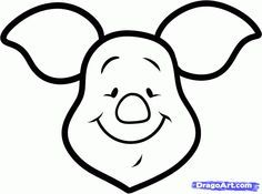 How to Draw Piglet Easy, Step by Step, Disney Characters, Cartoons, Draw Cartoon Characters, FREE Online Drawing Tutorial, Added by Dawn, Ma...
