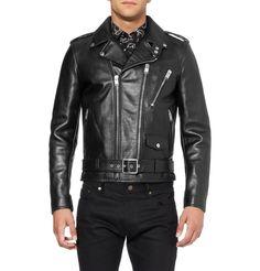 Saint Laurent Slim-Fit Leather Biker Jacket | MR PORTER