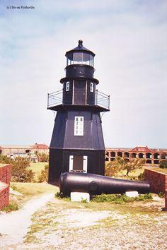 Garden Key Light or Tortuga Harbor LightFort Jefferson, Dry Tortugas Florida US  24.628056,-82.872222   - 1876