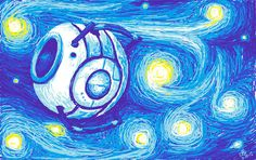 also another beautiful portal artwork: Wheatley!!!!!