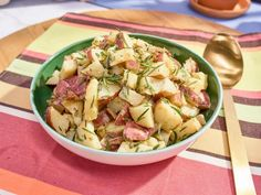 Get Roasted Potato Salad with Crispy Rosemary Recipe from Food Network