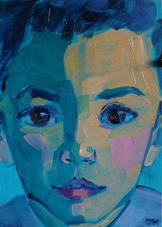 "Daily Paintworks - ""Half-Hour Portrait"" - Original Fine Art for Sale - © Jessica Miller"