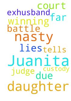 Please pray for my daughter, Juanita, she is in a nasty - Please pray for my daughter, Juanita, she is in a nasty custody battle with her exhusband so , far he is winning due to his lies he tells the judge in court. Posted at: https://prayerrequest.com/t/KDS #pray #prayer #request #prayerrequest