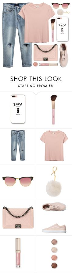 """""""Sunday Morning"""" by monmondefou ❤ liked on Polyvore featuring Sugoi, Monki, Ray-Ban, Chanel, Vans, By Terry, Terre Mère and Pink"""