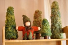 I am in love with these wooly trees!  cute cute and definitely a DIY project