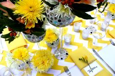 Styling by Decor It Events and Ambrosia Floral Designs, Melbourne  www.decorit.com.au #yellow #chevron #summer #wedding #linenhire #linen #melbourne #melbourneevents #decorations #inspiration #tablelinen #decoritevents (11)