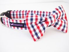 FOR BABY DUKE... Dog Collar Bow Tie Set Harold by CollarMeCharming on Etsy, $24.95