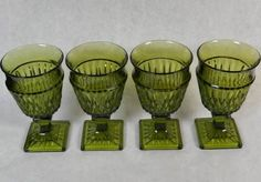 Indiana Glass Mount Vernon blue Water or Wine Glasses - Google Search