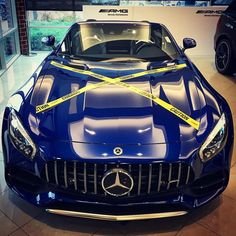 """44 Likes, 2 Comments - Knauz Continental Autos (@knauz.mercedes) on Instagram: """"Stop by to test drive this beautiful 2018 Mercedes-AMG® GT Roadster Brilliant Blue Metallic…"""""""