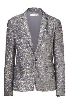 Silver sequined blazer