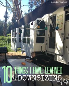 I posted about Small House Living earlier this week and introduced you to Lori and her family of six who are currently living in an RV. The comments on that post were quite lively and there were lots of pros and cons shared for both living in a small house and having a larger house.  Lori posted a follow-up post yesterday called 10 Things I Have Learned By Downsizing Our Life. I think you'll find it very interesting and insightful — at least I know that I did. Click through to read it.