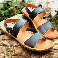 e7878b7cfa0be Cheap sole therapy, Buy Quality shoes women wide feet directly from China  shoe set Suppliers: [KRUSDAN]Top Genuine Cow Leather Sandals Man Fashion  Summer ...